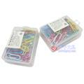得力0024回形针 彩色塑盒3#