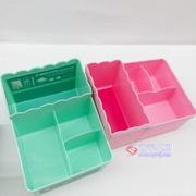 多功能收纳储物盒 粉红/粉绿(文件盘)
